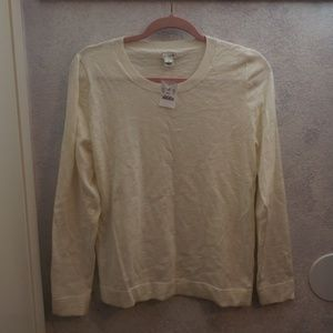 j. crew slub cotton teddie sweater
